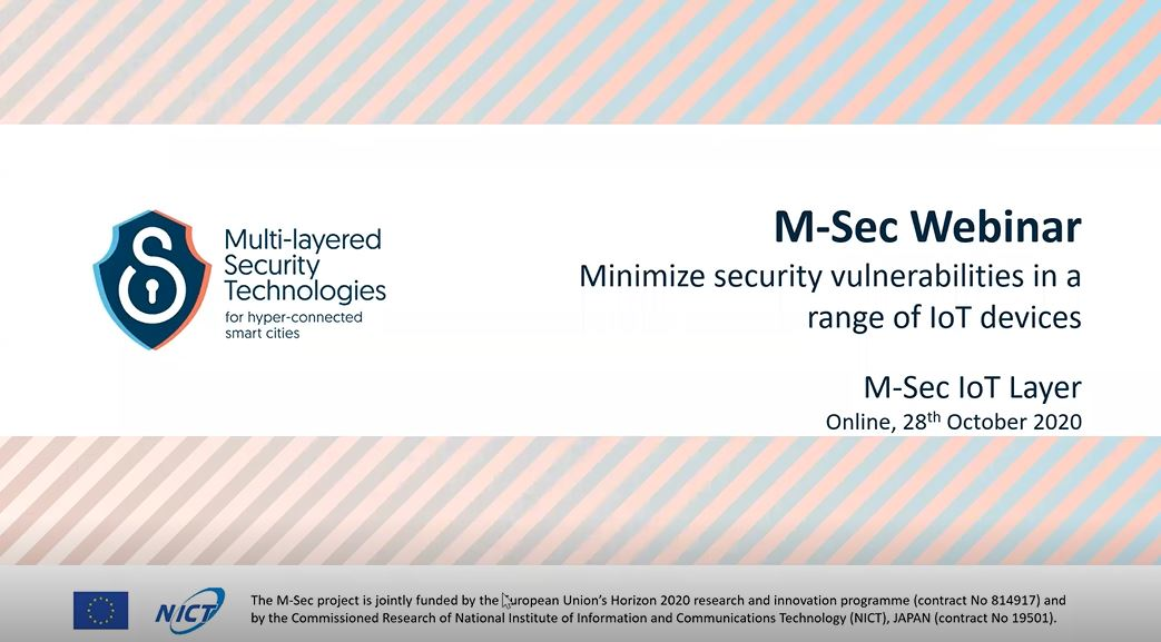 All about the M-Sec Webinar on how to minimize security vulnerabilities in a range of IoT devices