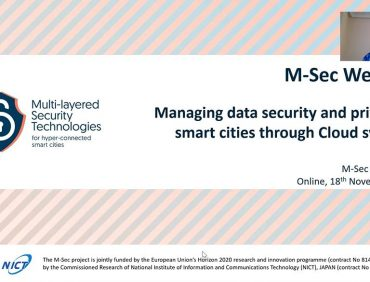 All about the M-Sec Webinar on data security & privacy in modern smart cities