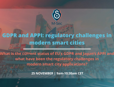 GDPR & APPI: Regulatory challenges in modern smart cities on the spotlight next Wednesday