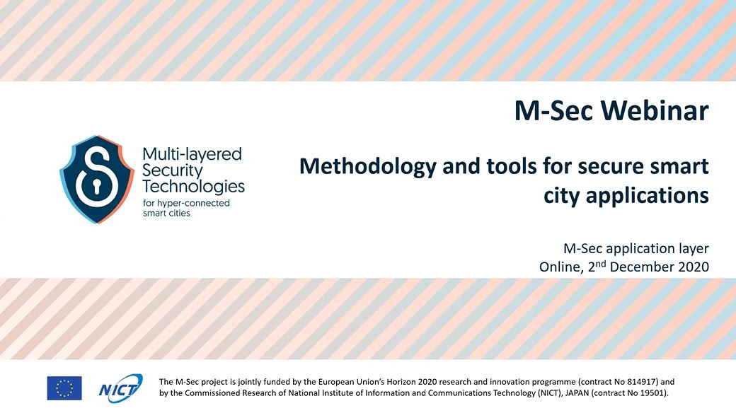 All about the methodology and tools for secure smart city applications Webinar