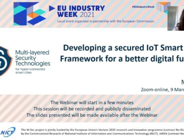 Shaping Europe's digital future through a secured smart city framework – recapping M-Sec's local EU Industry Week 2021 online event