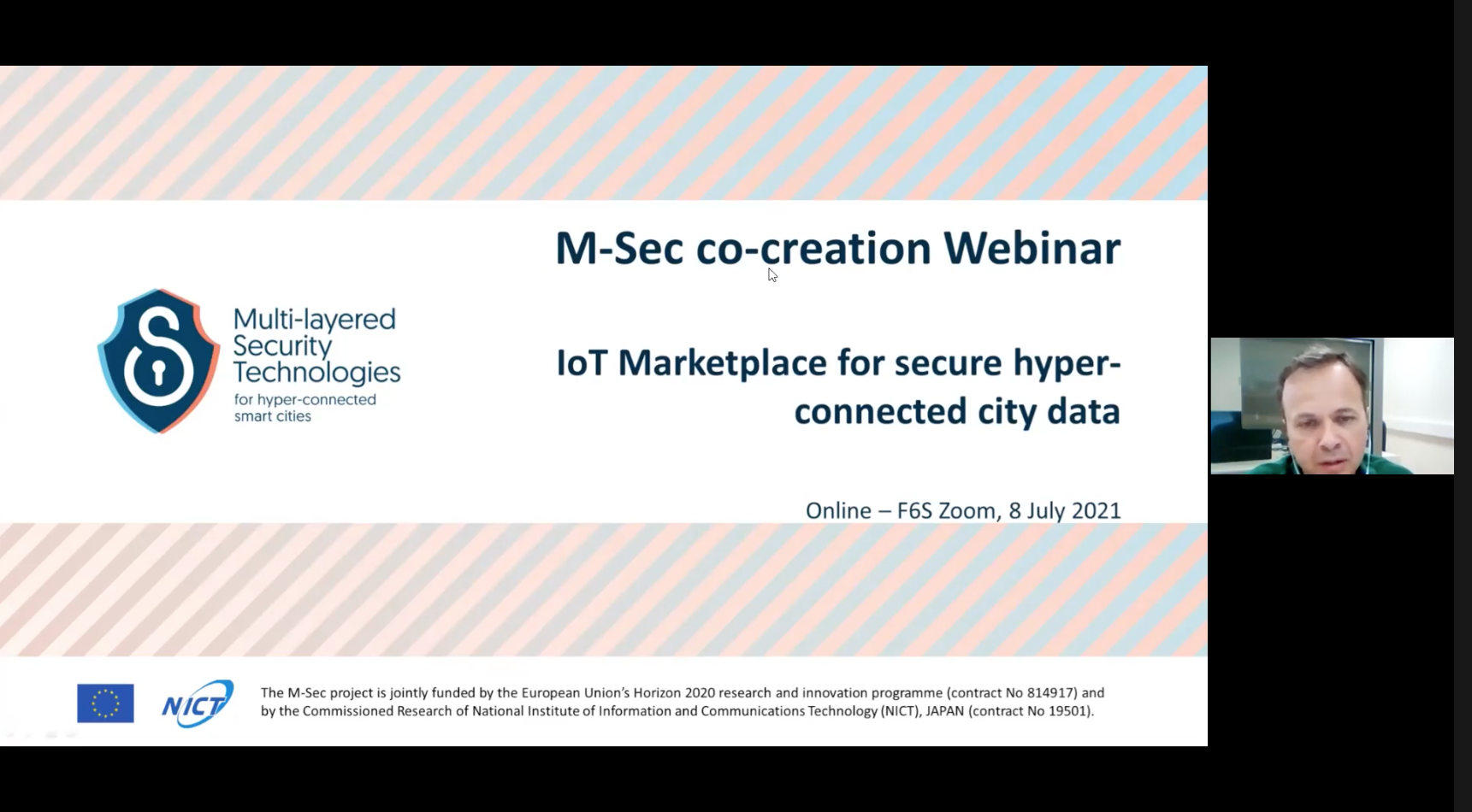 Recap M-Sec's Webinar on IoT Marketplace for secure hyper-connected city data